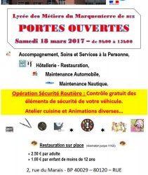 Portes Ouvertes – Samedi 18 Mars 2017 – 9h00 à 15h00